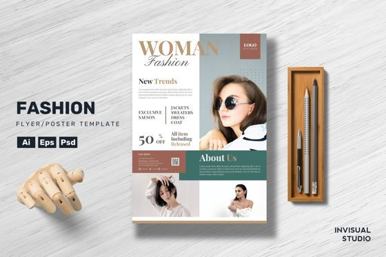 Art & Entertainment: Woman Fashion Flyer Template #08901