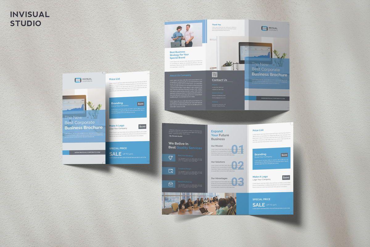 Corporate - Trifold Brochure, 08905, Business — PoweredTemplate.com