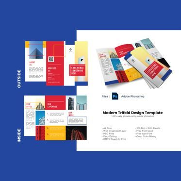 Business: Multipurpose trifold business brochure template #08906