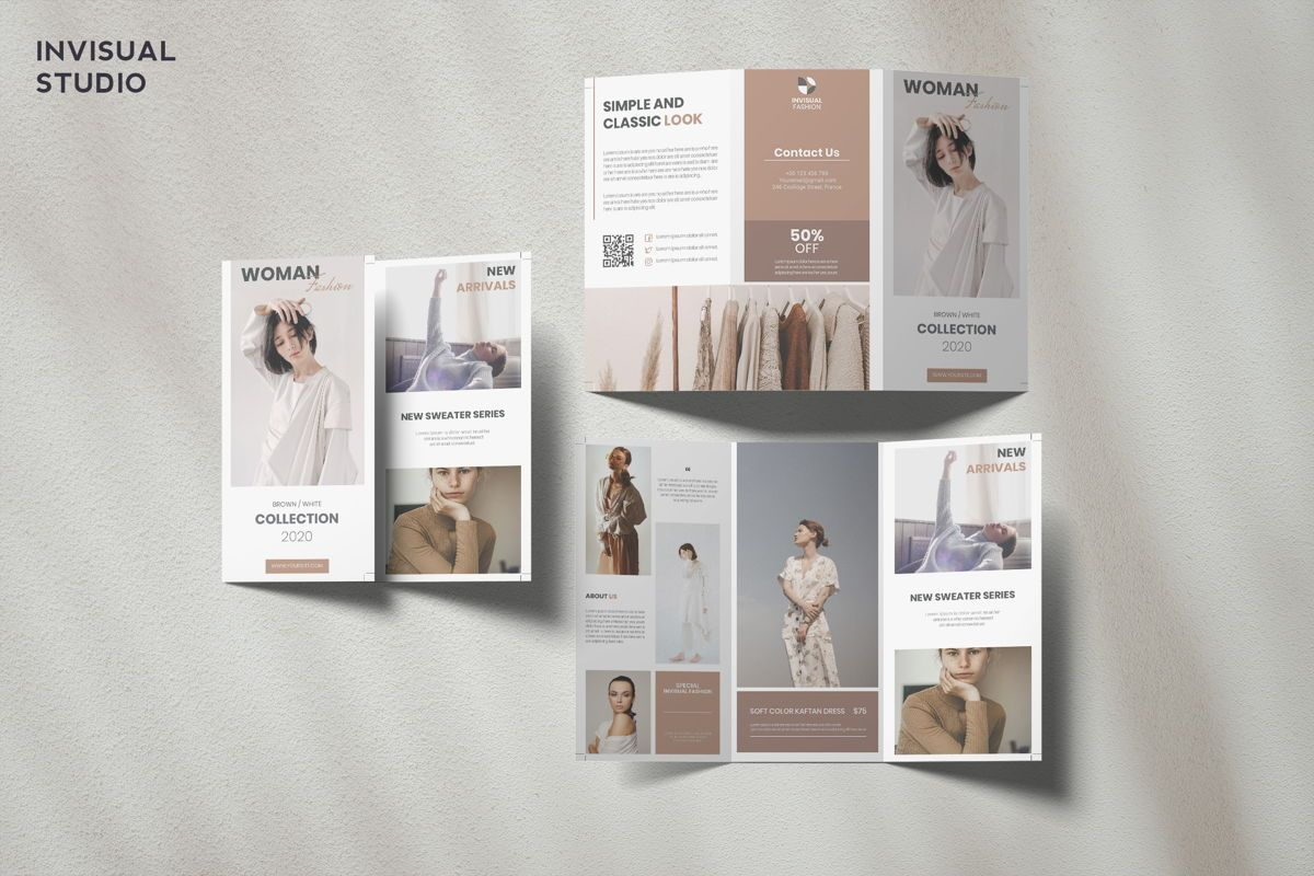 Fashion - Trifold Brochure, 08908, Art & Entertainment — PoweredTemplate.com
