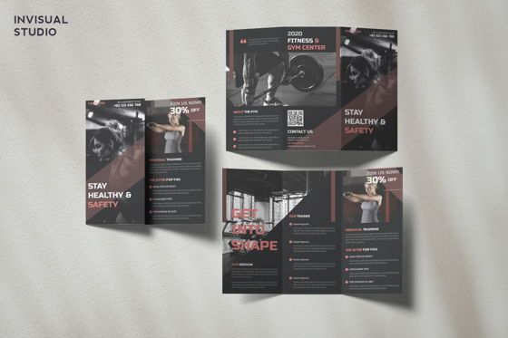 Sports: Fitness - Trifold Brochure #08909