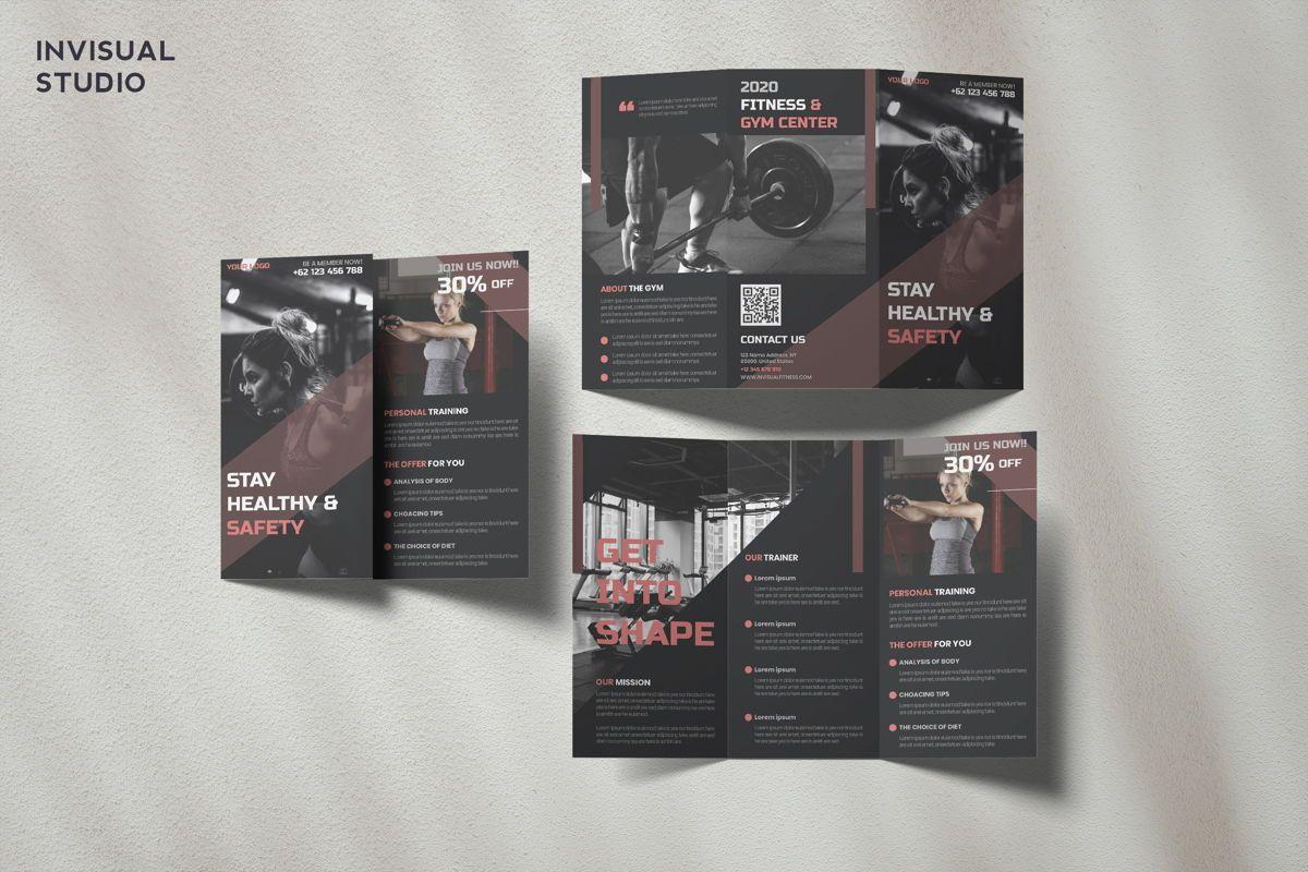 Fitness - Trifold Brochure, 08909, Sports — PoweredTemplate.com