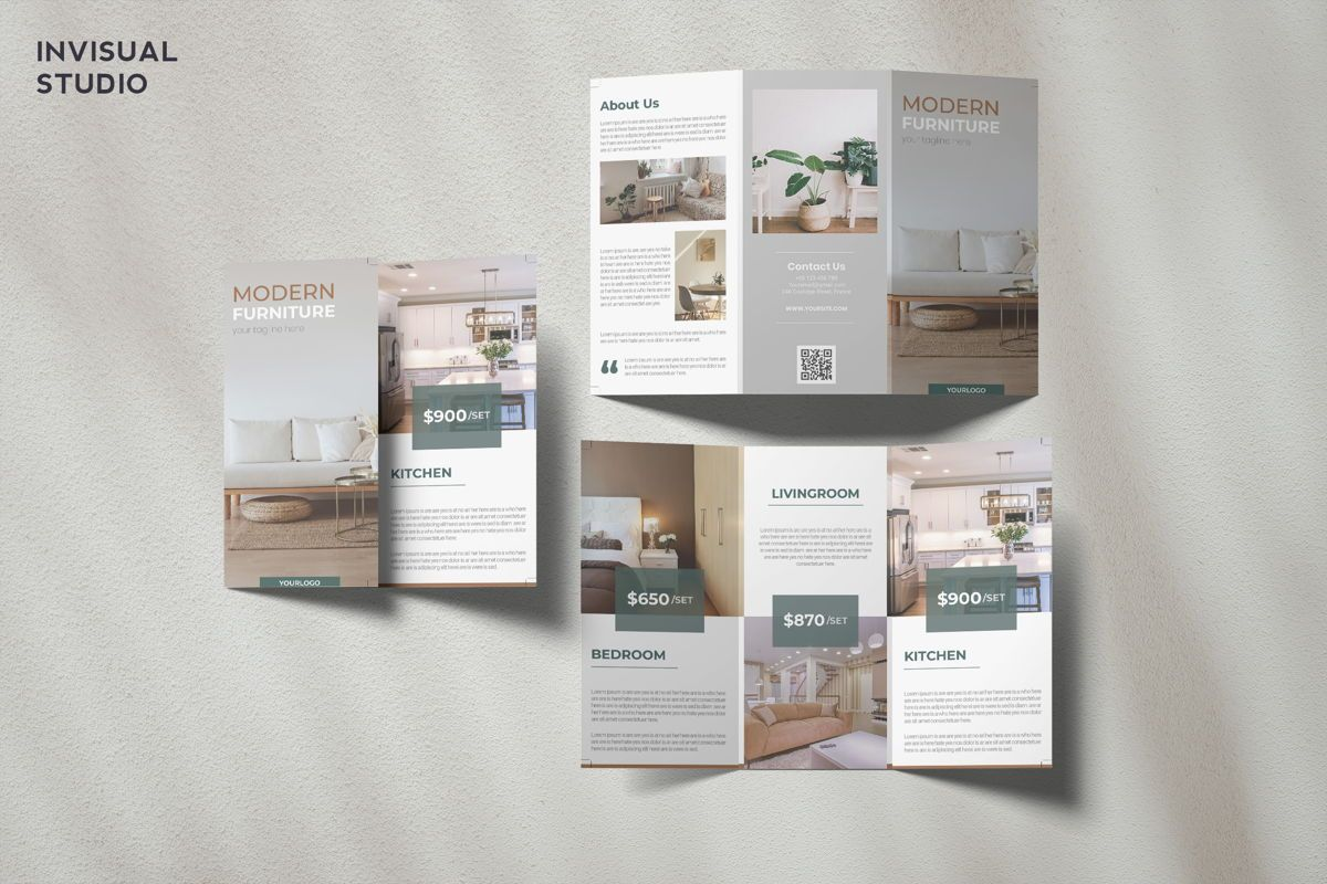 Furniture - Trifold Brochure, 08910, Business Concepts — PoweredTemplate.com