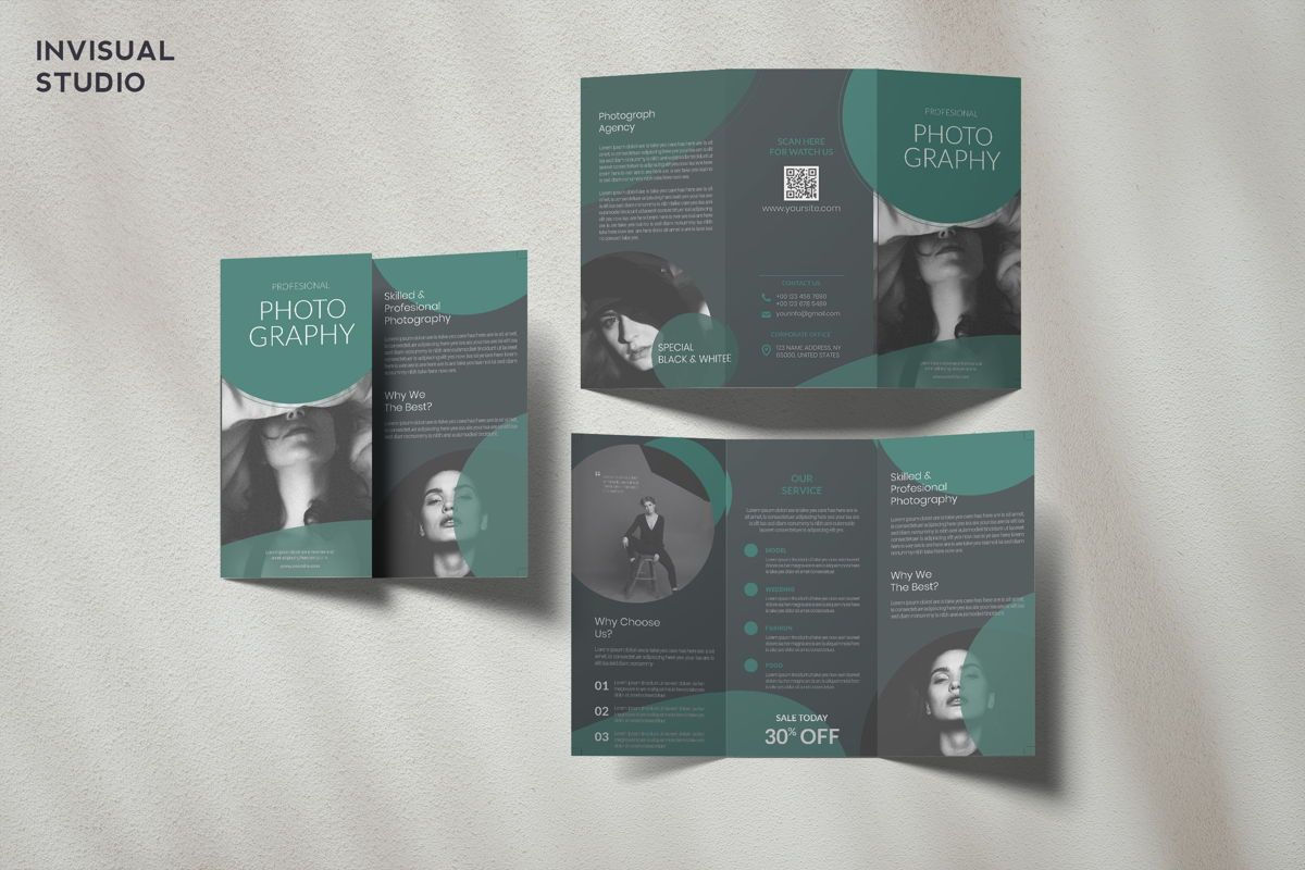 Photography - Trifold Brochure, 08913, Art & Entertainment — PoweredTemplate.com