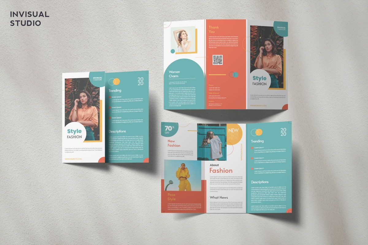 Style Fashion - Trifold Brochure, 08914, Art & Entertainment — PoweredTemplate.com