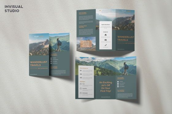 Holiday/Special Occasion: Travel - Trifold Brochure #08915