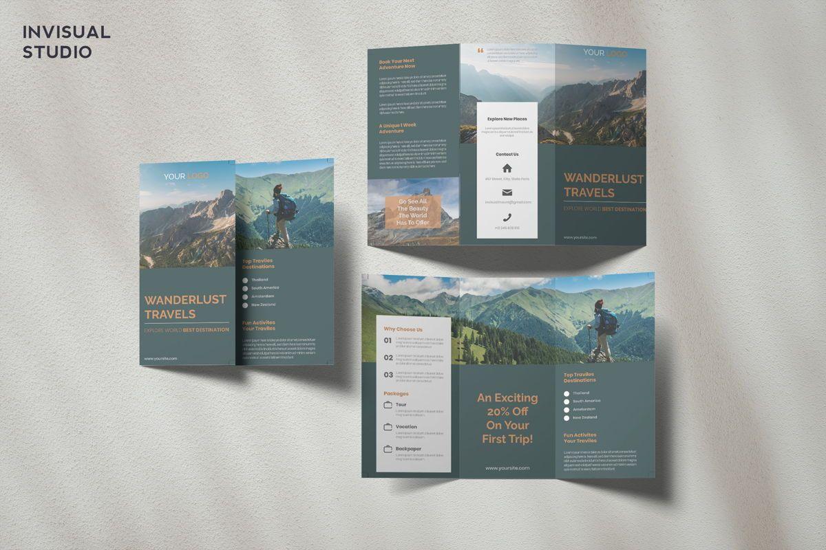 Travel - Trifold Brochure, 08915, Holiday/Special Occasion — PoweredTemplate.com