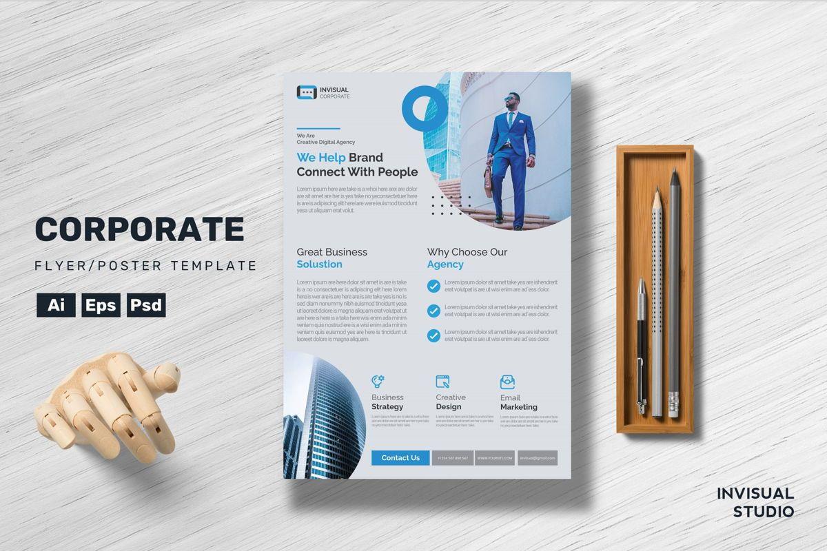 Corporate - Flyer Template, 08918, Business Concepts — PoweredTemplate.com