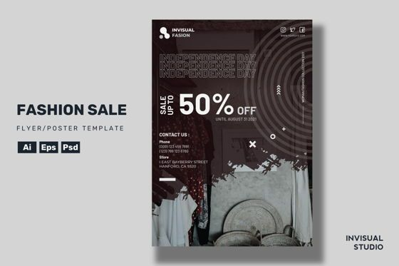 Art & Entertainment: Fashion Sale - Flyer Template #08919