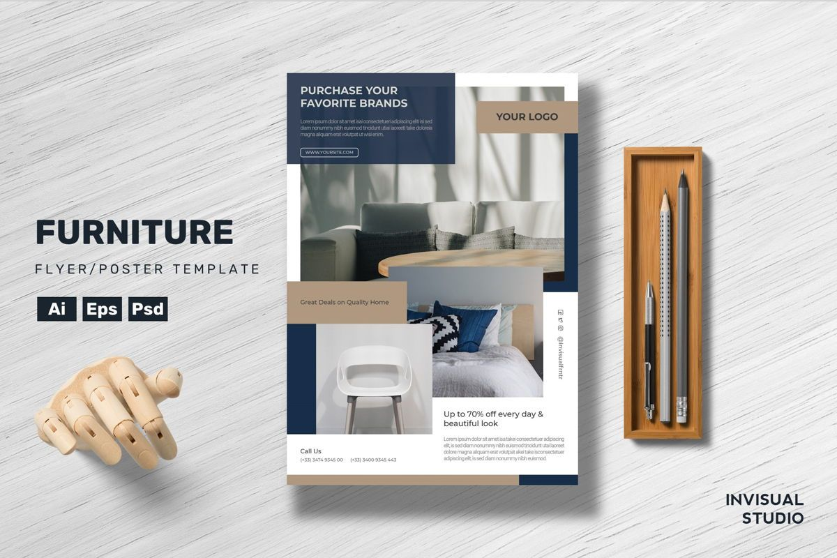 Furniture - Flyer Template, 08920, Art & Entertainment — PoweredTemplate.com