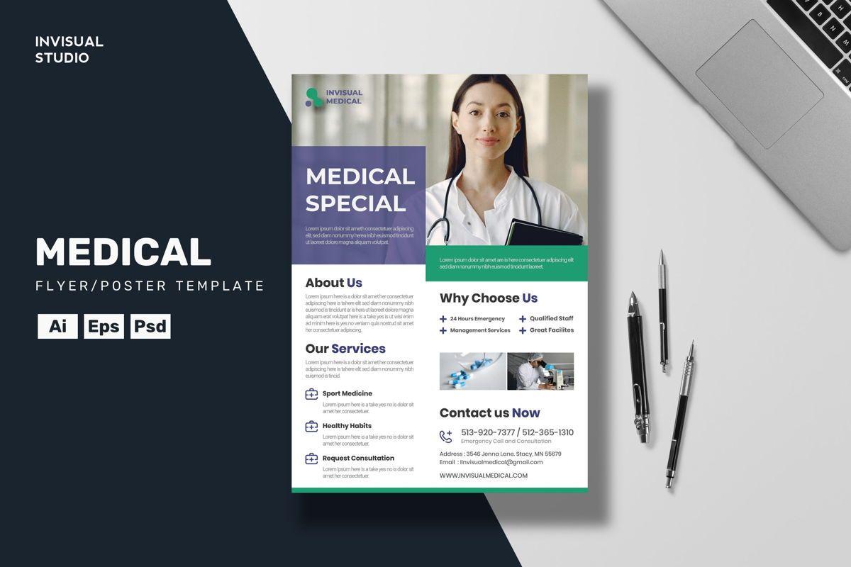 Medical - Flyer Template, 08923, Medical — PoweredTemplate.com