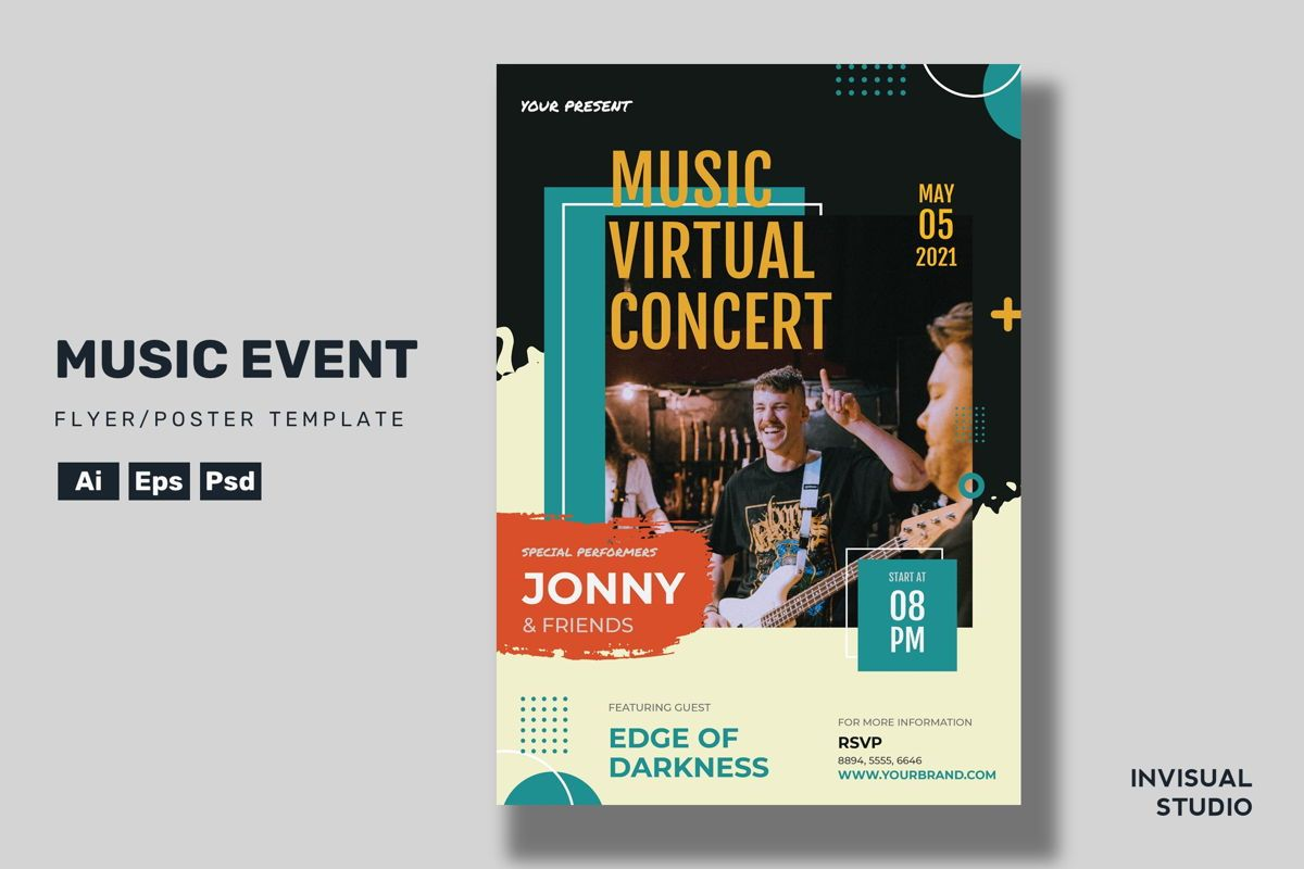 Muisc Event - Flyer Template, 08924, Art & Entertainment — PoweredTemplate.com