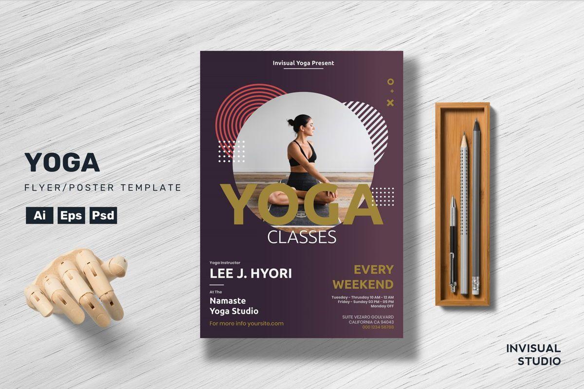 Yoga - Flyer Template, 08925, Desportos — PoweredTemplate.com