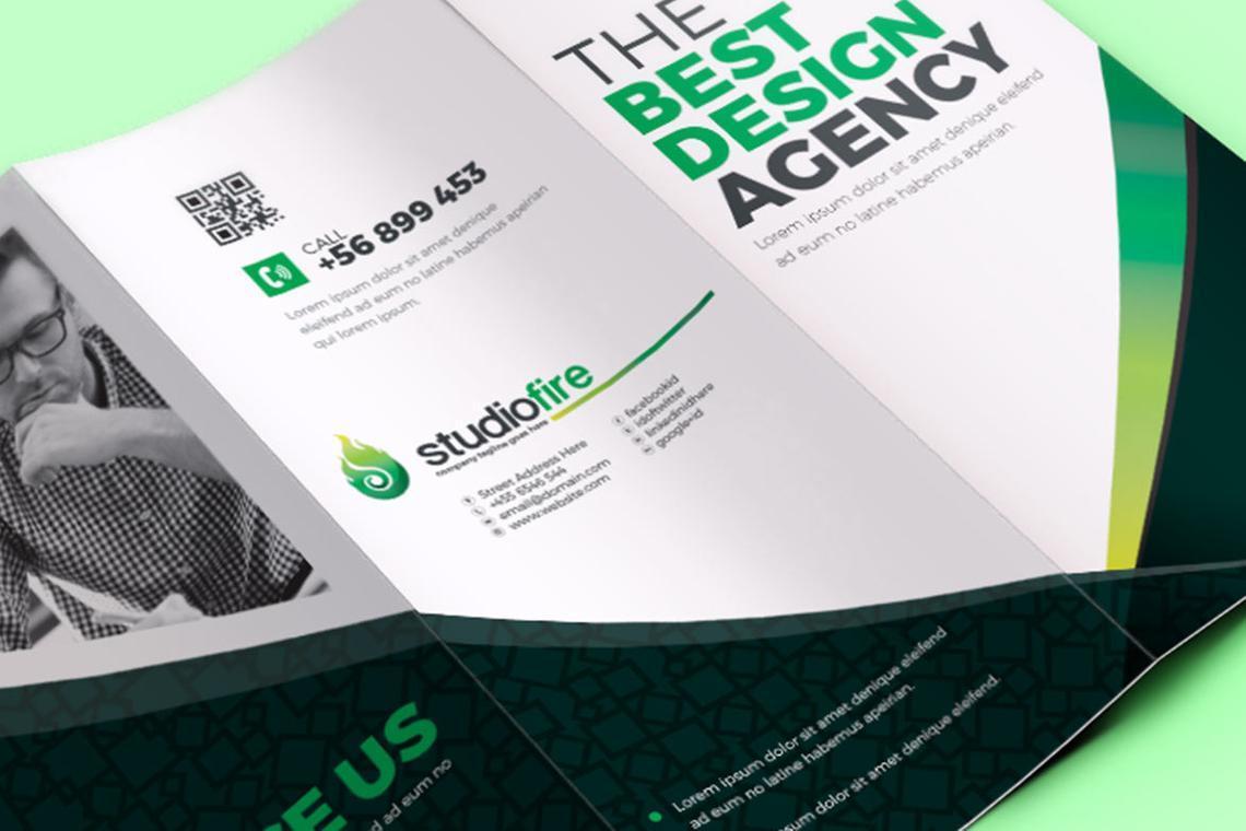 Creative Tri-Fold Brochure InDesign Template with 4 Color Variation, Slide 4, 08929, Business — PoweredTemplate.com