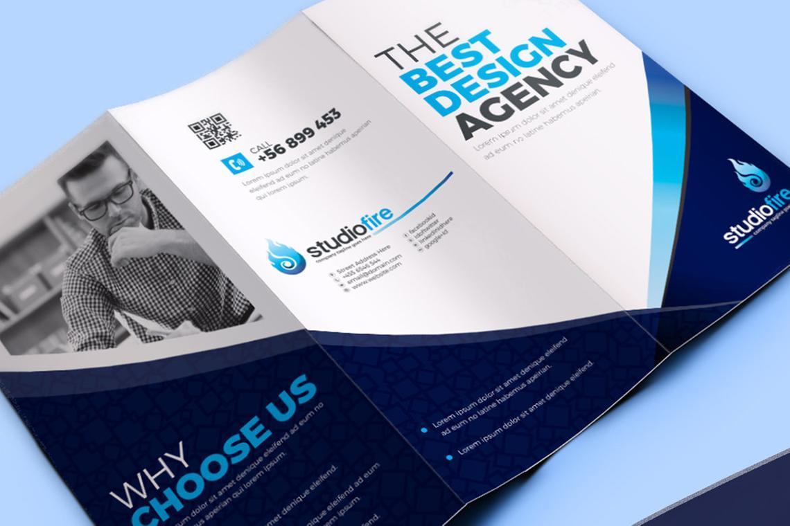 Creative Tri-Fold Brochure InDesign Template with 4 Color Variation, Slide 6, 08929, Business — PoweredTemplate.com
