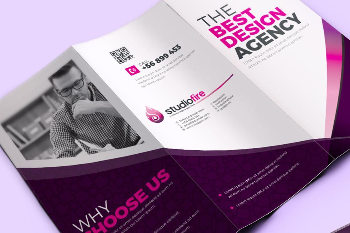 Creative Tri-Fold Brochure InDesign Template with 4 Color Variation, Slide 8, 08929, Business — PoweredTemplate.com