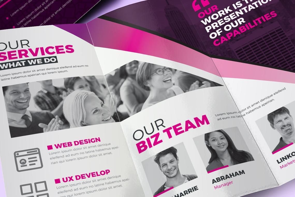 Creative Tri-Fold Brochure InDesign Template with 4 Color Variation, Slide 9, 08929, Business — PoweredTemplate.com