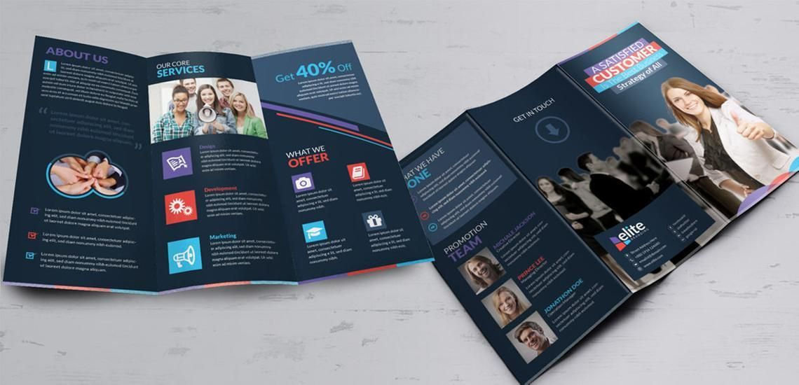 Clean Corporate Business Tri-Fold Brochure InDesign Template, Diapositive 10, 08930, Business — PoweredTemplate.com