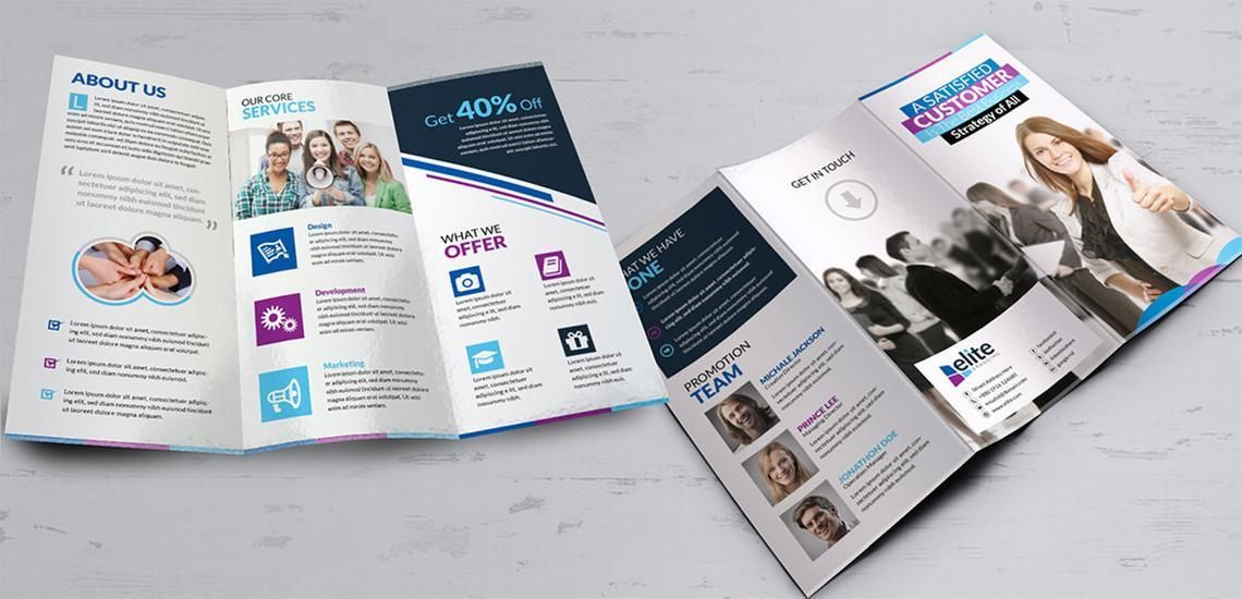 Clean Corporate Business Tri-Fold Brochure InDesign Template, Diapositive 3, 08930, Business — PoweredTemplate.com