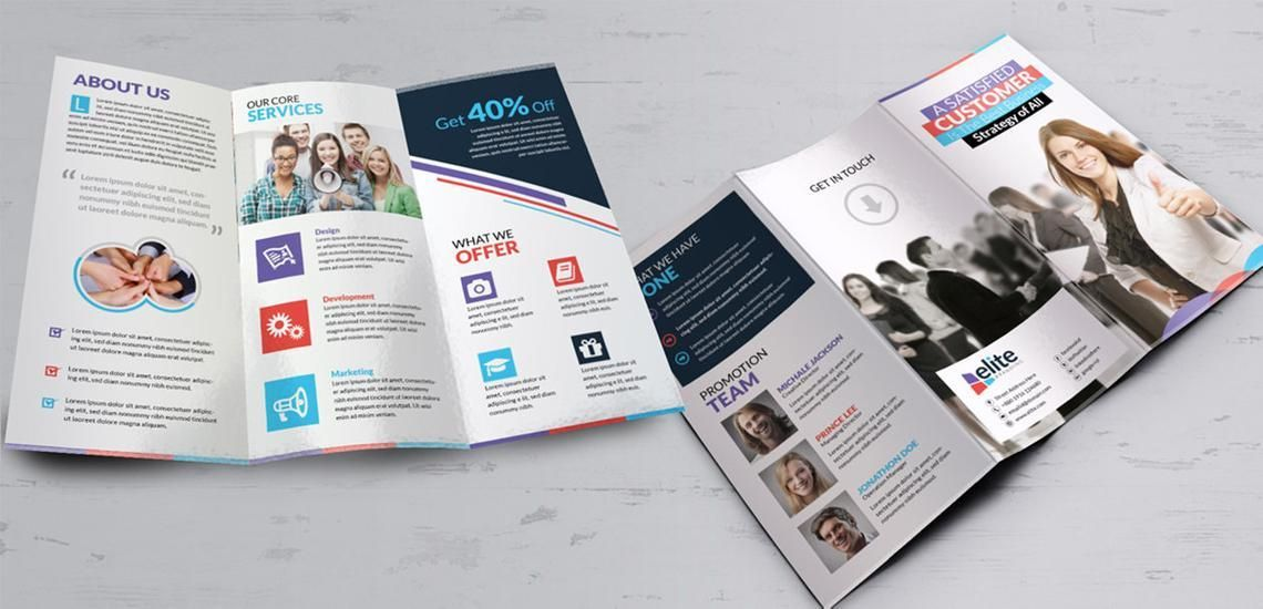 Clean Corporate Business Tri-Fold Brochure InDesign Template, Diapositive 4, 08930, Business — PoweredTemplate.com