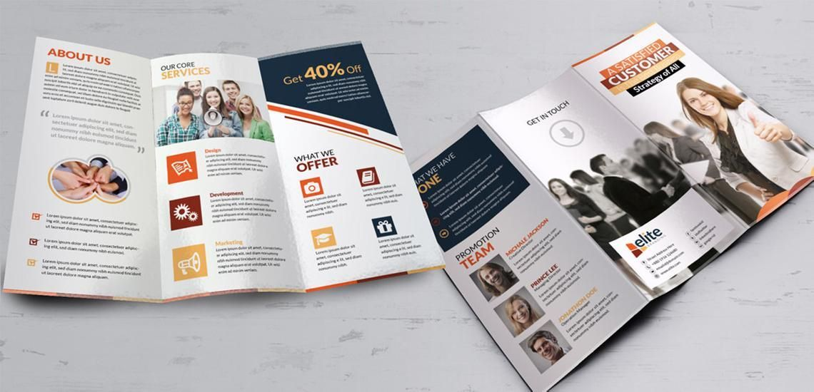 Clean Corporate Business Tri-Fold Brochure InDesign Template, Diapositive 5, 08930, Business — PoweredTemplate.com