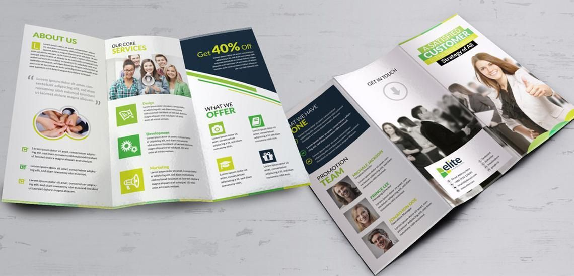 Clean Corporate Business Tri-Fold Brochure InDesign Template, Diapositive 6, 08930, Business — PoweredTemplate.com