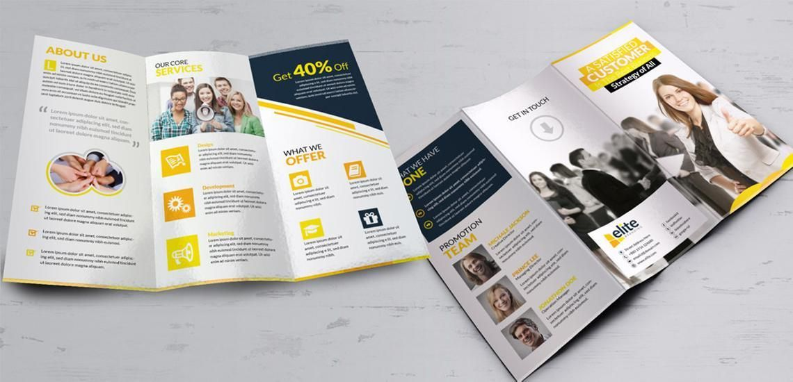 Clean Corporate Business Tri-Fold Brochure InDesign Template, Diapositive 7, 08930, Business — PoweredTemplate.com