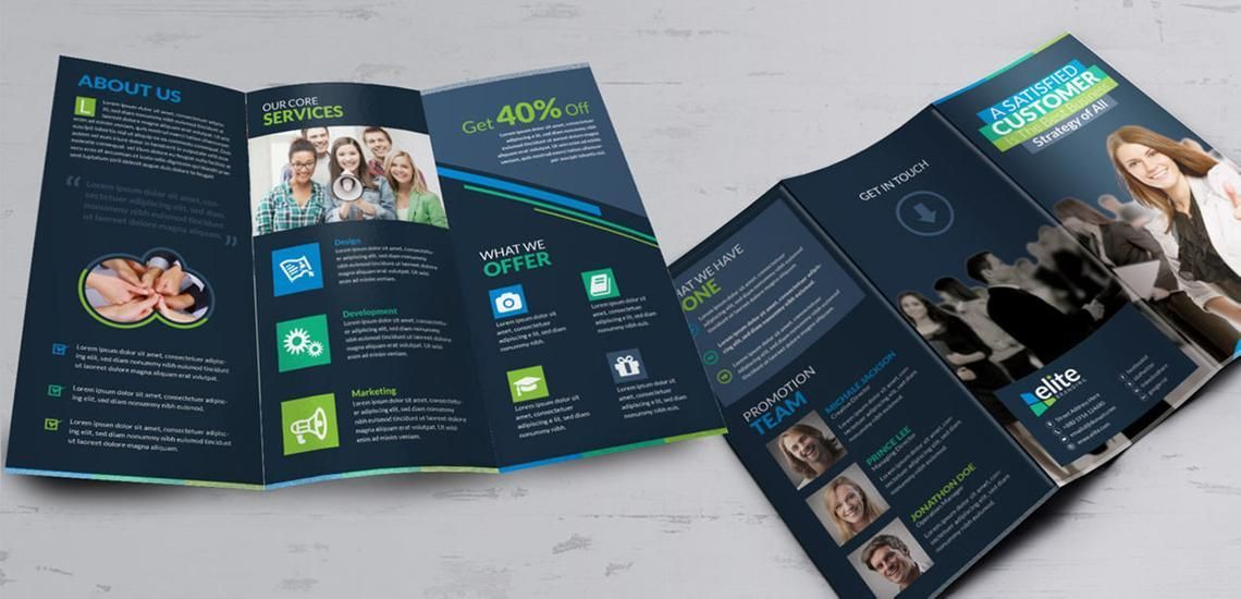 Clean Corporate Business Tri-Fold Brochure InDesign Template, Diapositive 8, 08930, Business — PoweredTemplate.com