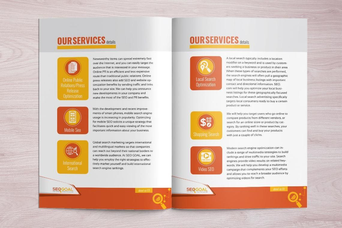 16 Page Brochure Template for SEO and Online Marketing Agency, Slide 5, 08931, Technology, Science & Computers — PoweredTemplate.com