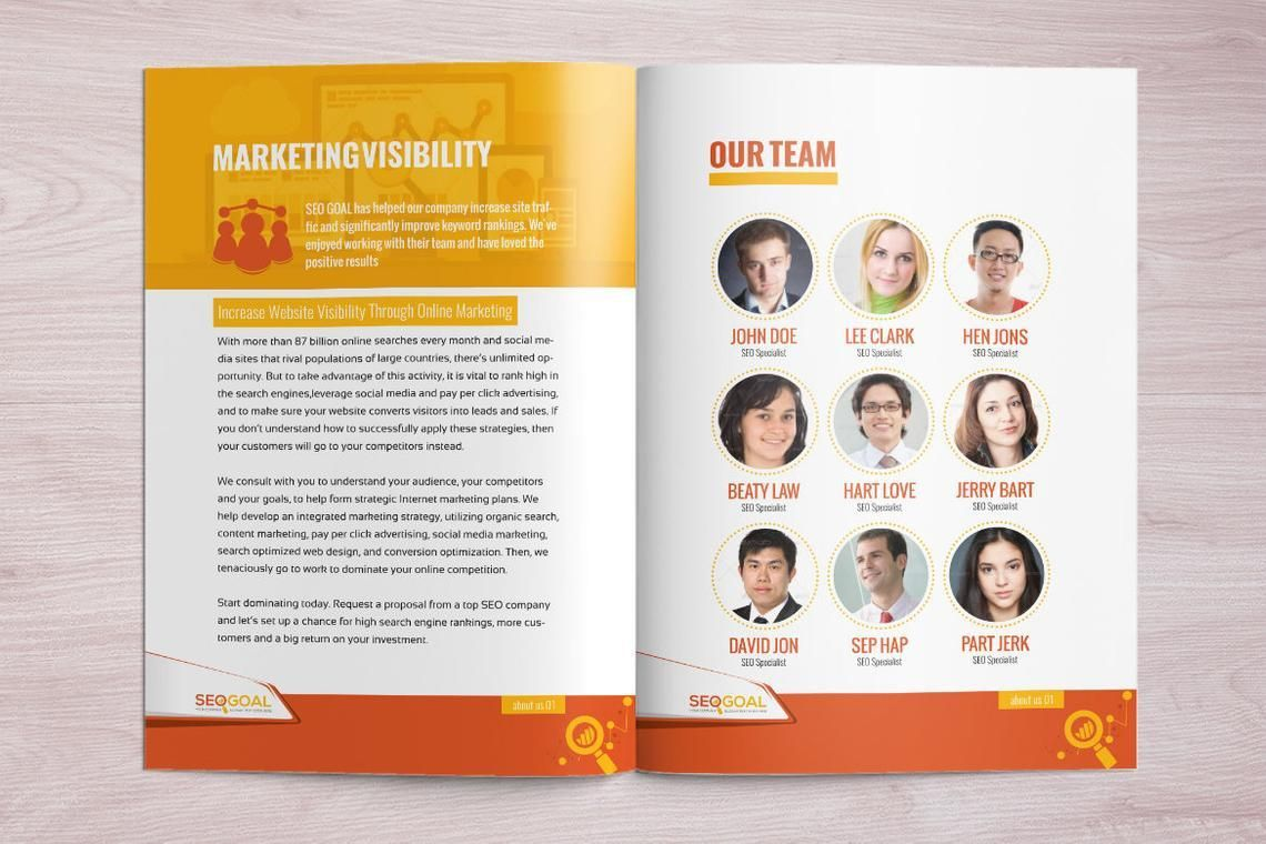 16 Page Brochure Template for SEO and Online Marketing Agency, Slide 7, 08931, Technology, Science & Computers — PoweredTemplate.com