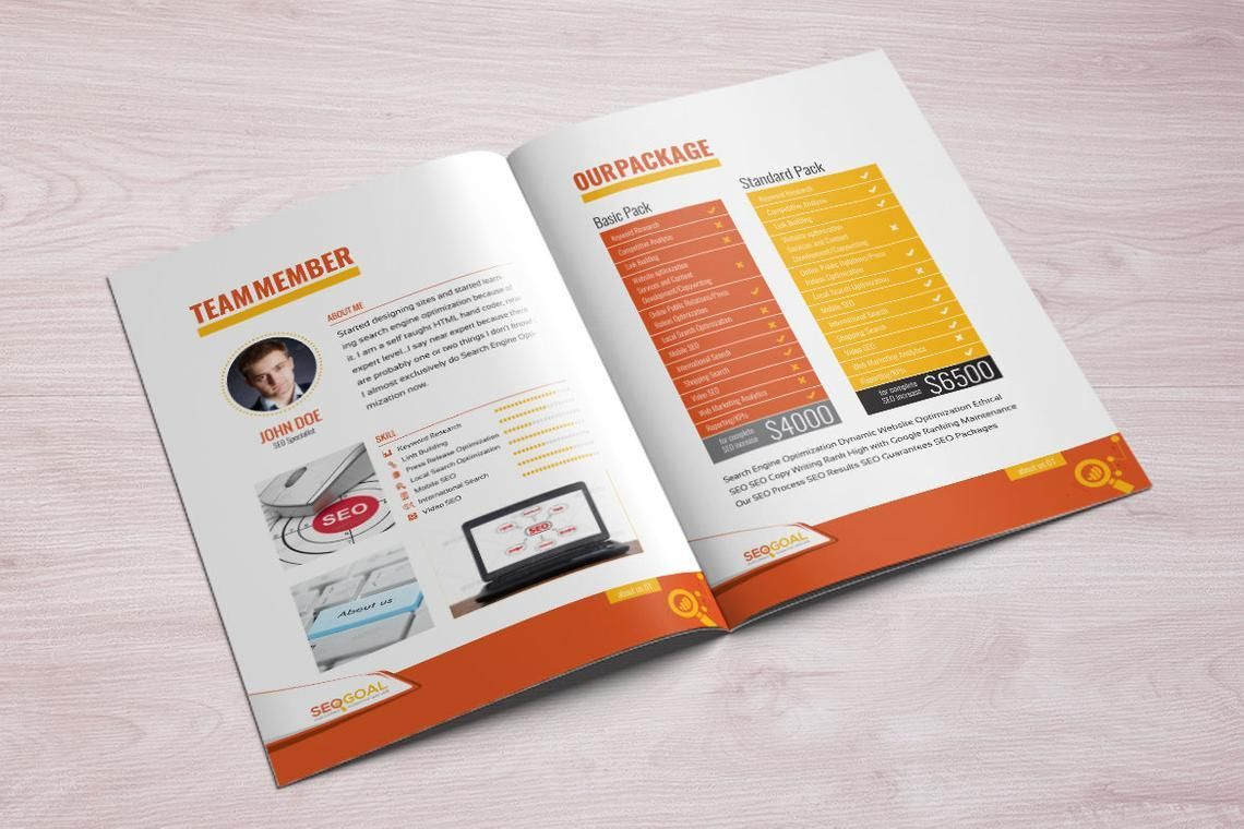 16 Page Brochure Template for SEO and Online Marketing Agency, Slide 8, 08931, Technology, Science & Computers — PoweredTemplate.com
