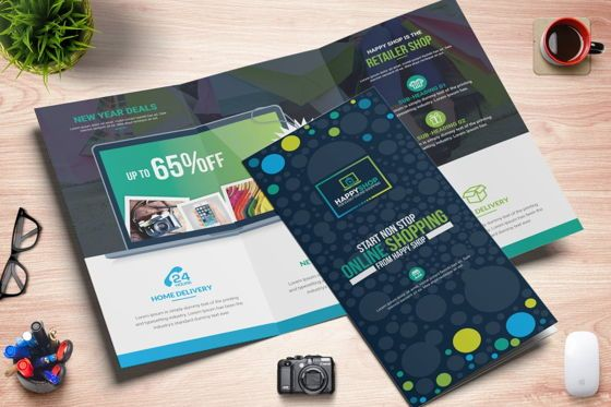 Business: Product Promotional Tri-Fold Brochure InDesign Template #08932