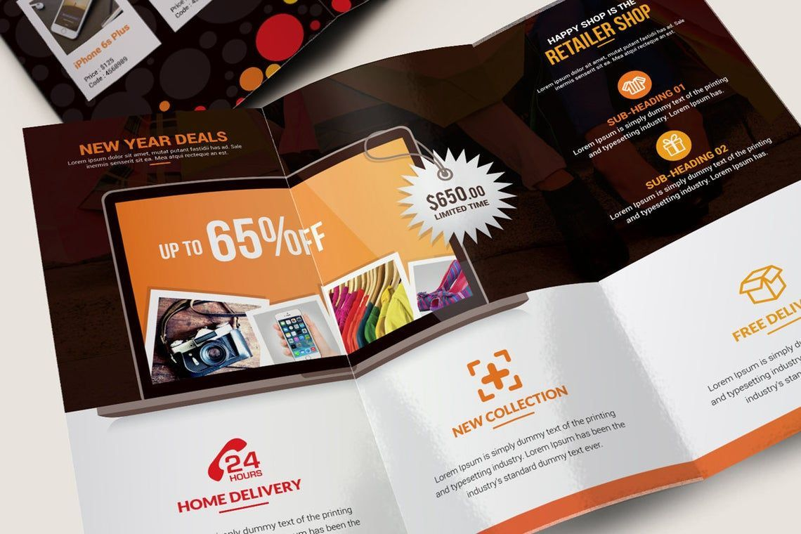 Product Promotional Tri-Fold Brochure InDesign Template, Slide 5, 08932, Business — PoweredTemplate.com