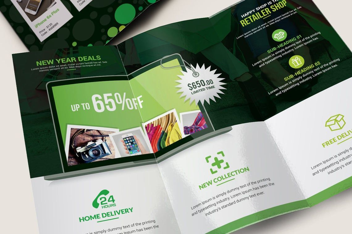 Product Promotional Tri-Fold Brochure InDesign Template, Slide 7, 08932, Business — PoweredTemplate.com
