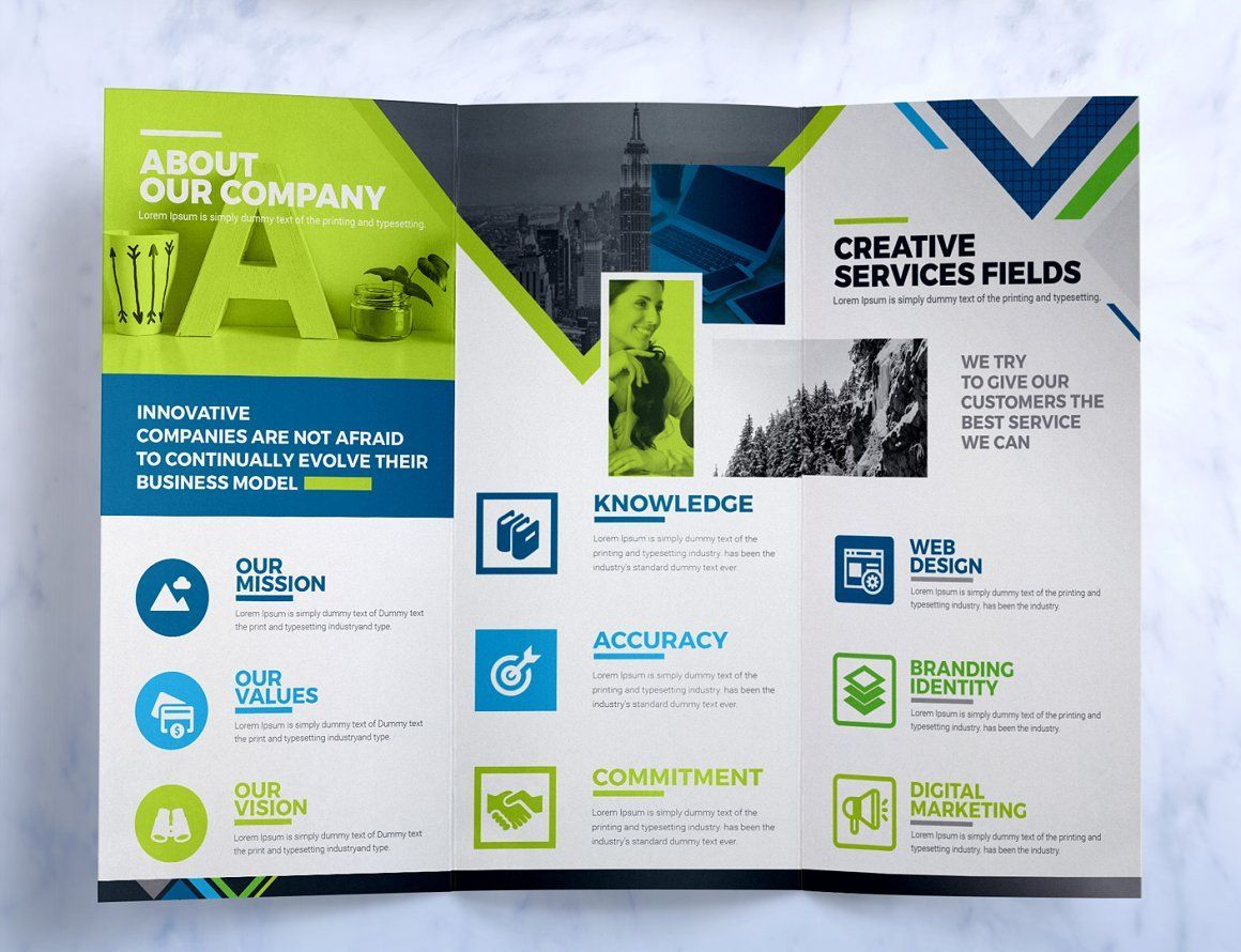 Tri-Fold Brochure - Square and Tall Brochure Design Template, Slide 4, 08933, Business — PoweredTemplate.com