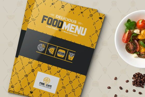 Food & Beverage: Food Menu for Restaurant Template #08934