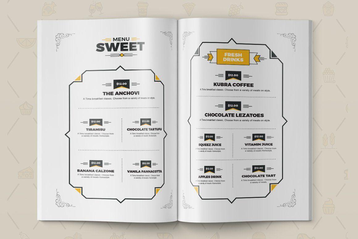 Food Menu for Restaurant Template, Slide 2, 08934, Food & Beverage — PoweredTemplate.com