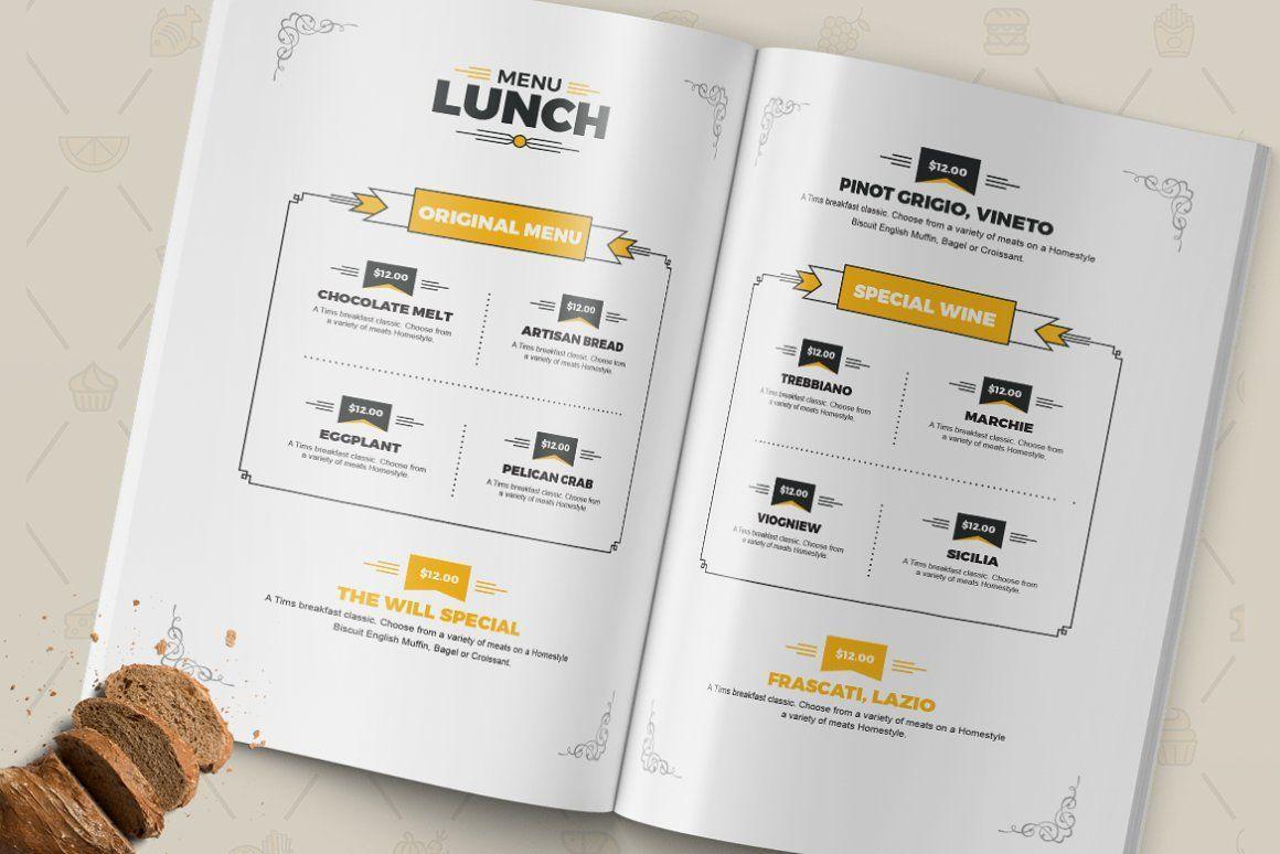 Food Menu for Restaurant Template, Slide 4, 08934, Food & Beverage — PoweredTemplate.com