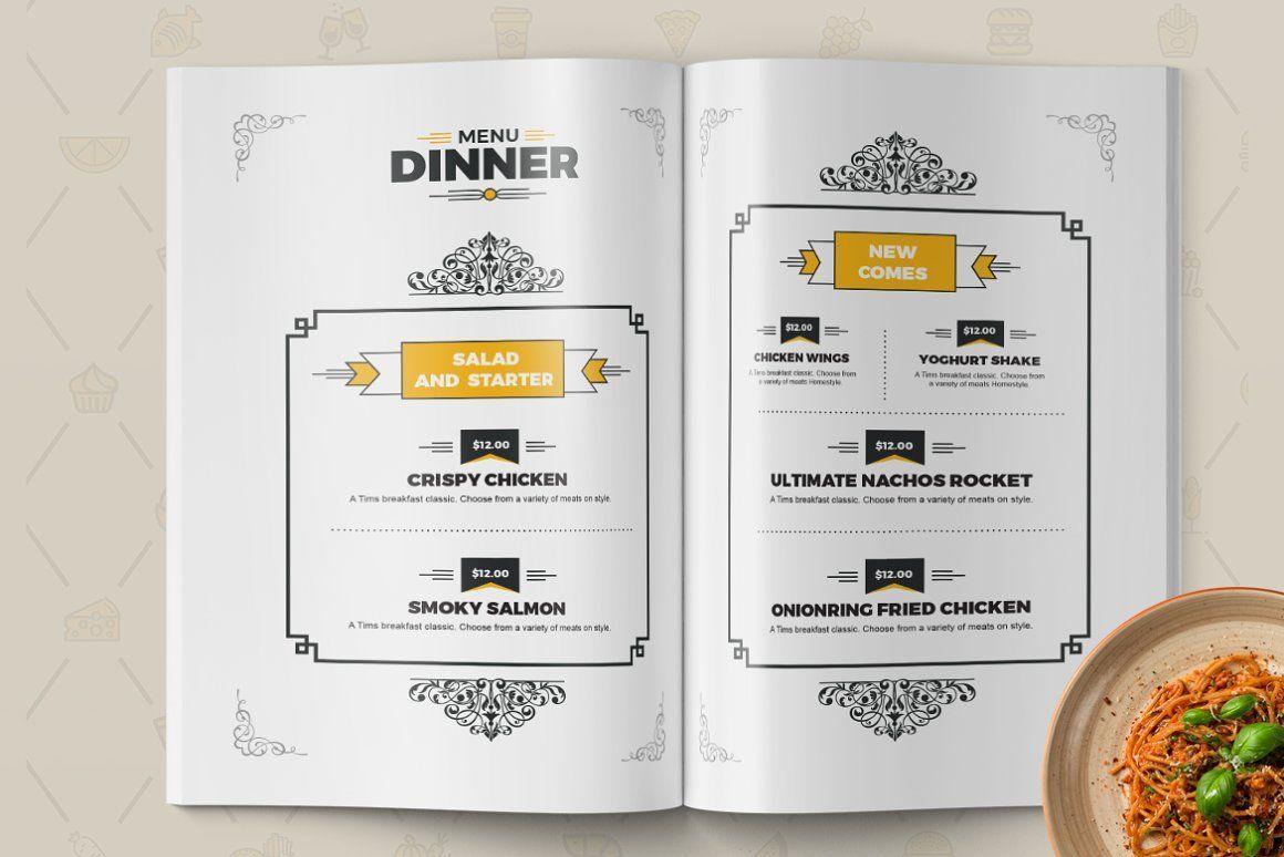 Food Menu for Restaurant Template, Slide 5, 08934, Food & Beverage — PoweredTemplate.com