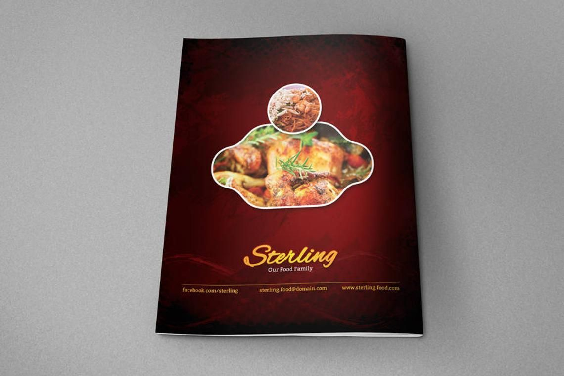 Printable Restaurant Menu Adobe Photoshop Template, Slide 8, 08935, Food & Beverage — PoweredTemplate.com