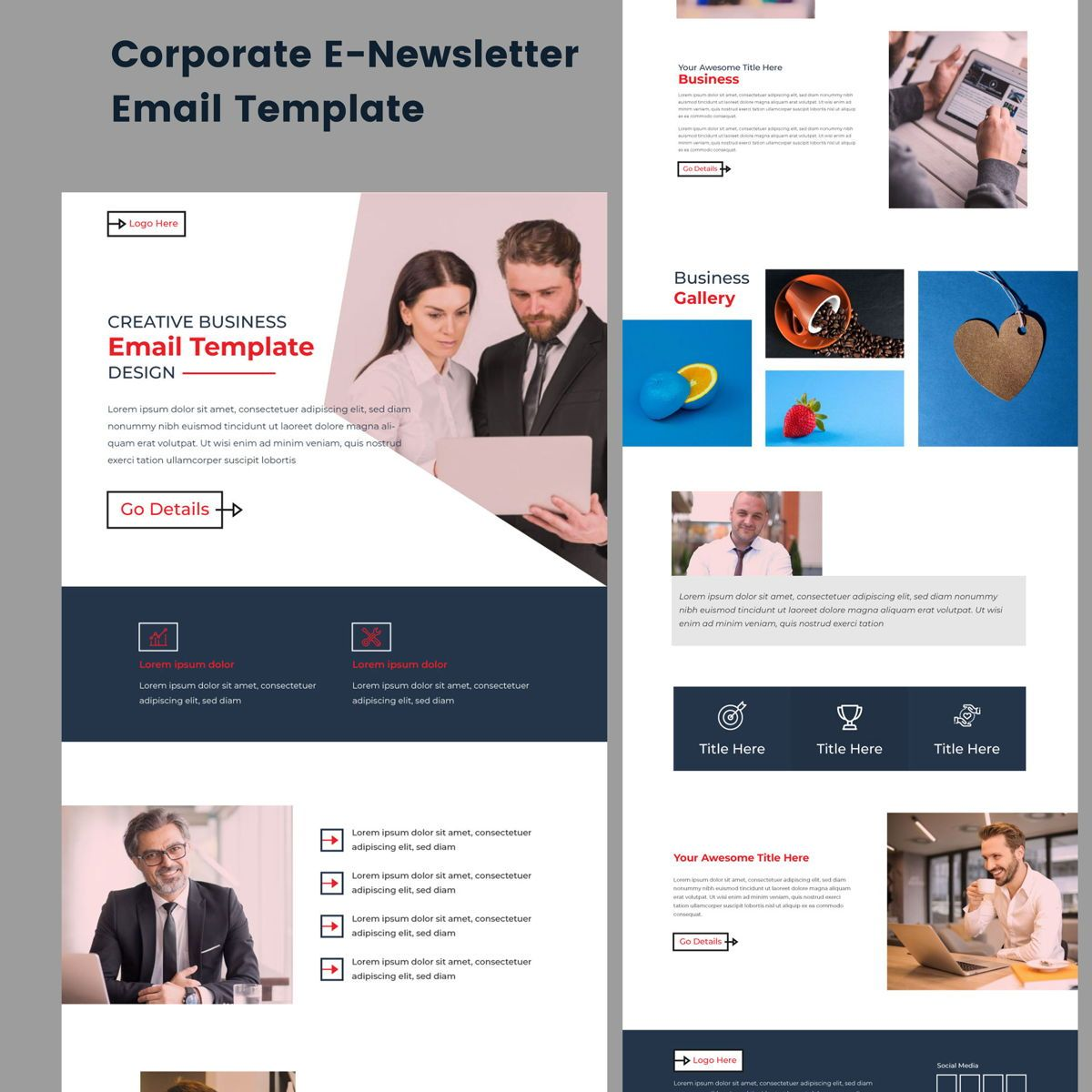 Corporate Business Professional b2b Newsletter Template adobe, Dia 2, 08937, Abstract/Textuur — PoweredTemplate.com