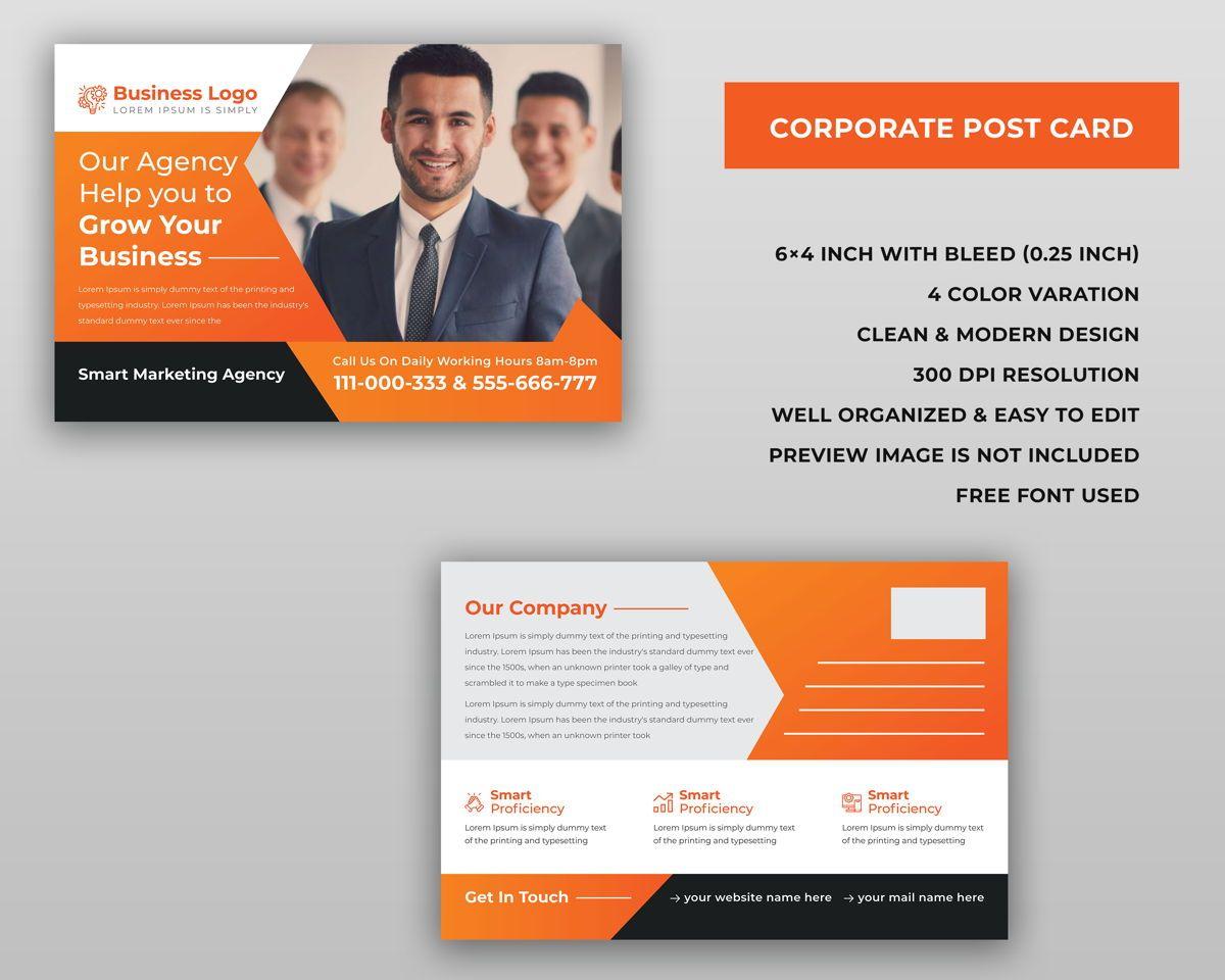 Corporate Marketing Material Design - Postcard, 슬라이드 2, 08940, 비즈니스 — PoweredTemplate.com