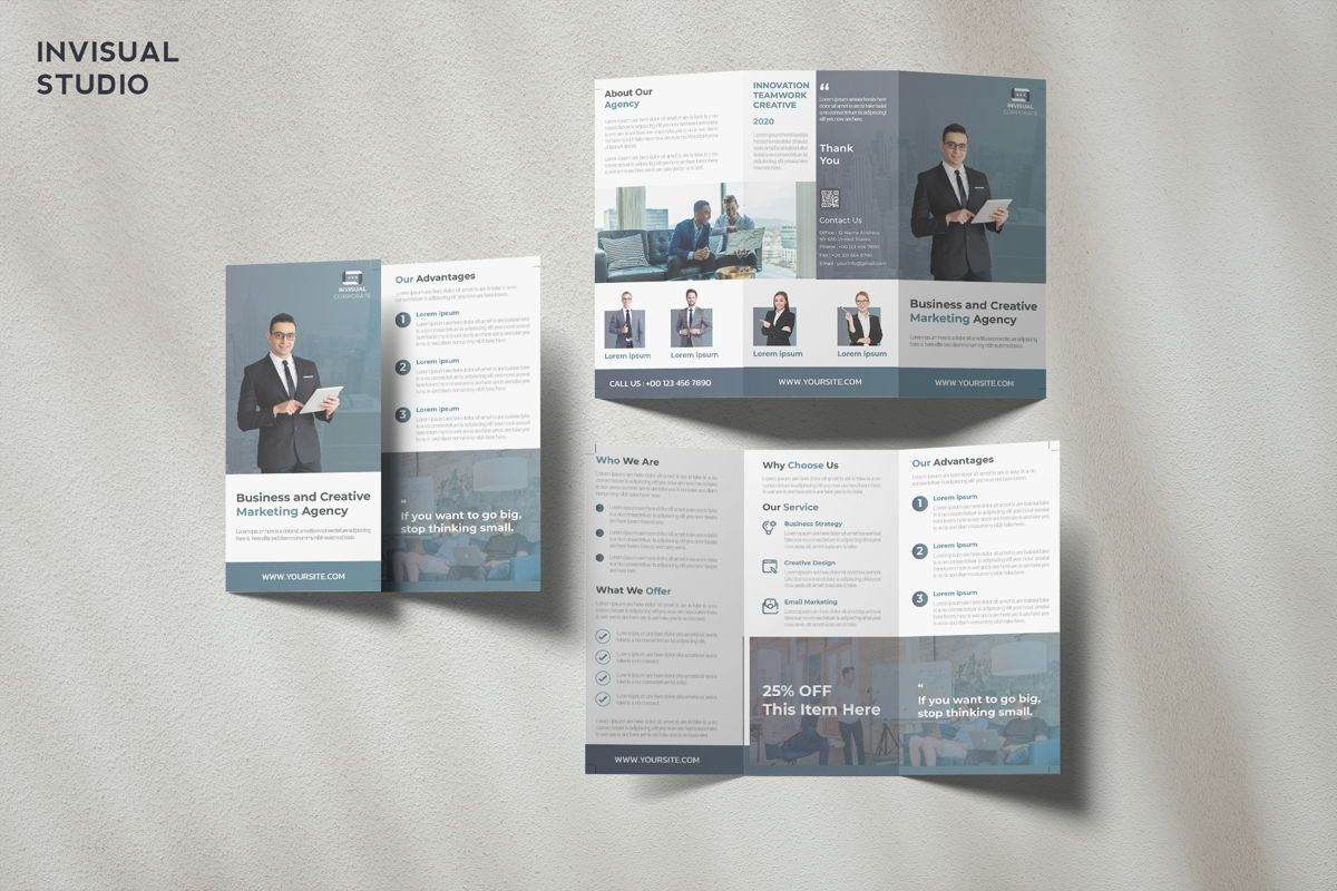 Business Agency - Trifold Brochure, 08942, Business Concepts — PoweredTemplate.com
