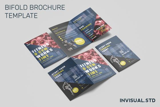 Sports: Fitness Gym - Bifold Brochure #08945