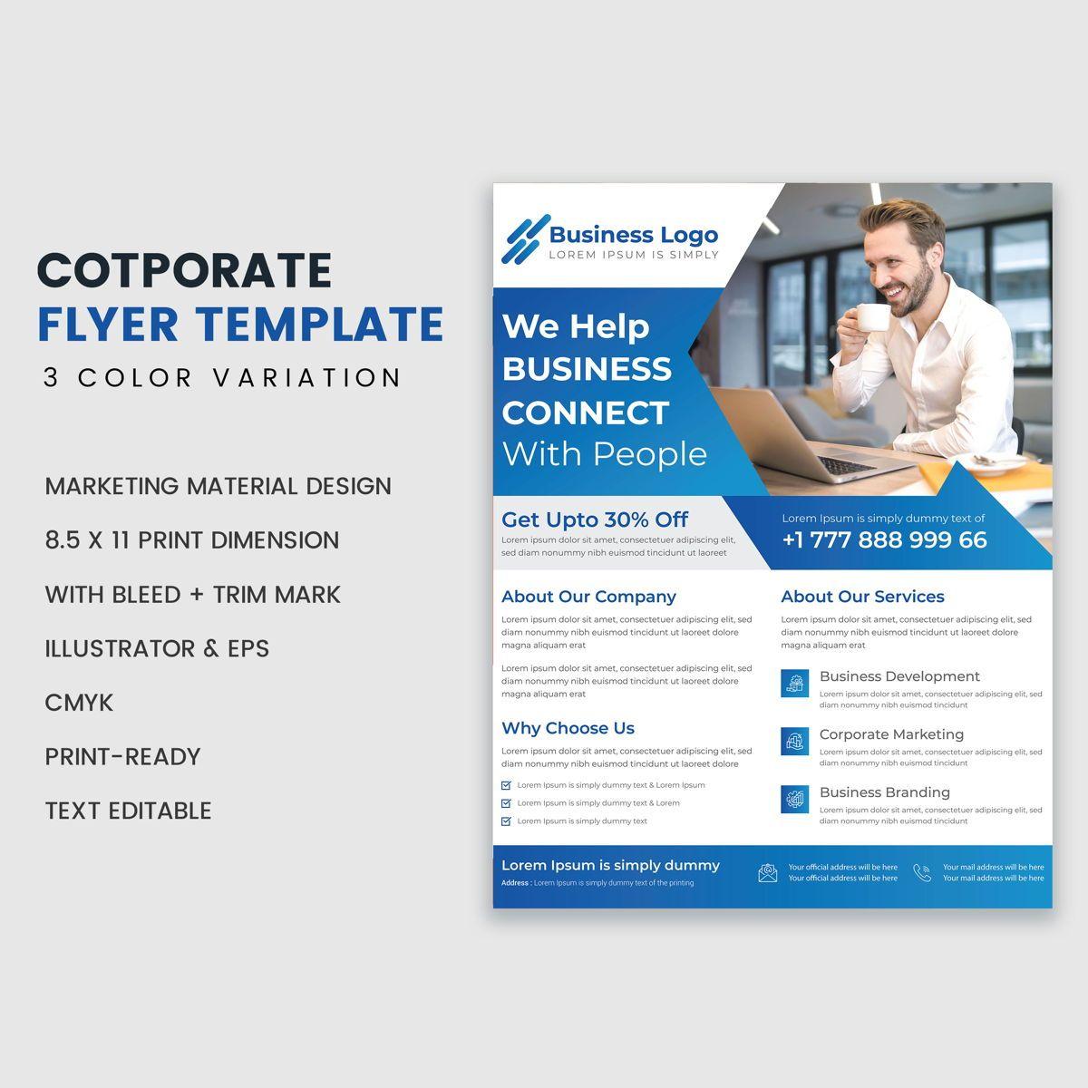 Minimal Corporate Flyer Template Design, Diapositive 2, 08946, Art & Entertainment — PoweredTemplate.com