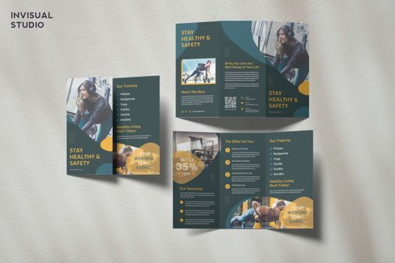 Sports: Fitness Gym - Trifold Brochure #08947