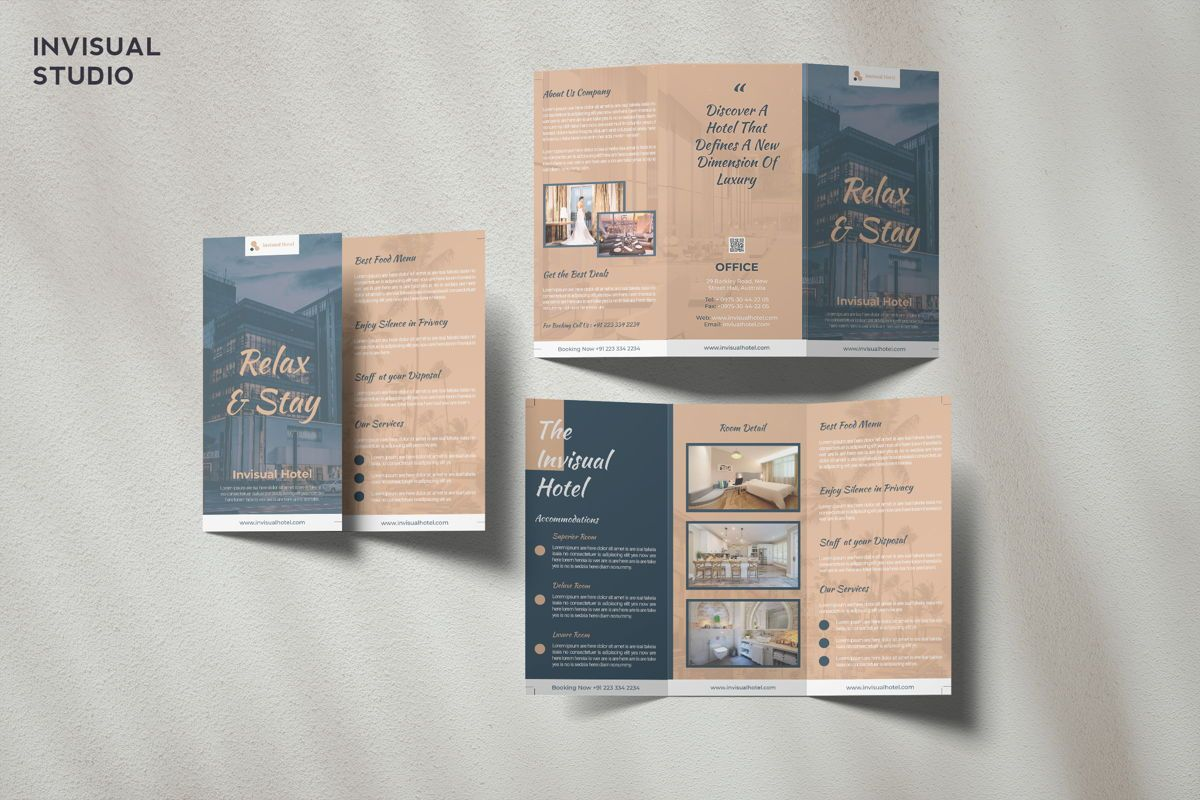 Hotel - Trifold Brochure, 08948, Holiday/Special Occasion — PoweredTemplate.com
