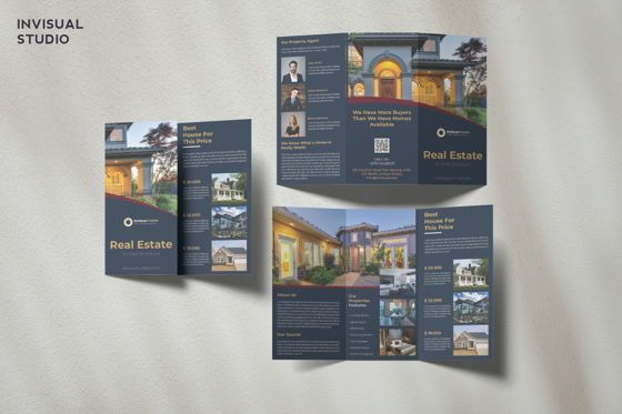 Business Concepts: Real Estate - Trifold Brochure #08951