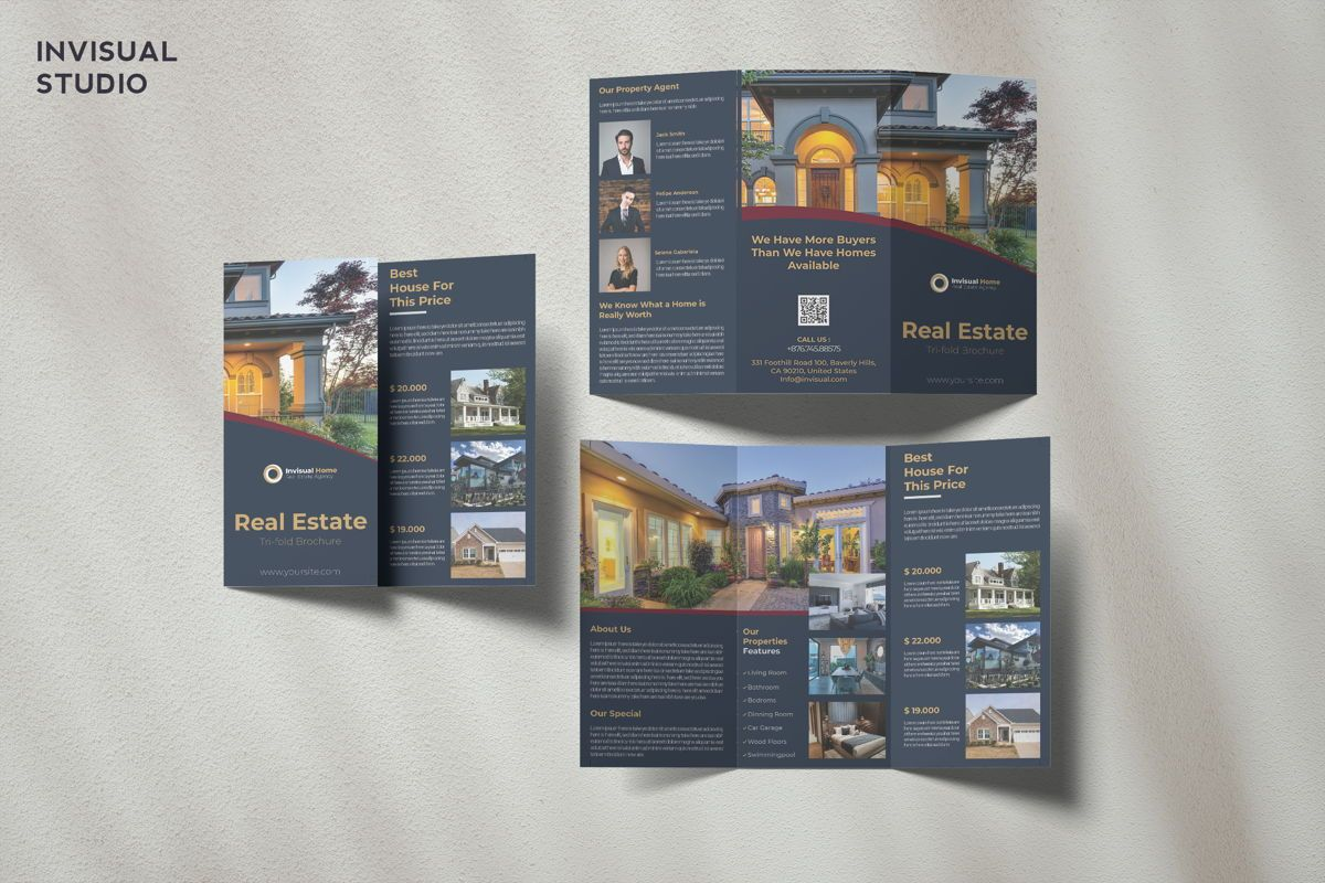 Real Estate - Trifold Brochure, 08951, Business Concepts — PoweredTemplate.com