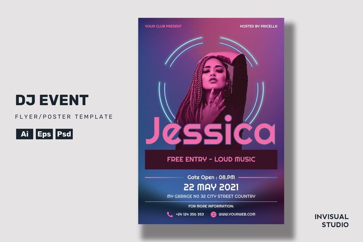 Dj Event - Flyer Template, 08954, Art & Entertainment — PoweredTemplate.com